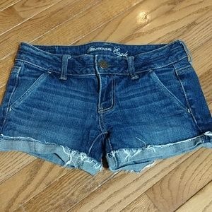 American eagle stretch shorts size 0